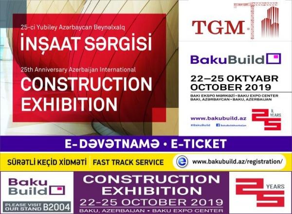 BakuBuild 25.Azerbaycan Uluslararası İnşaat Sergisi